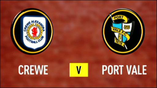 Crewe 1-2 Port Vale
