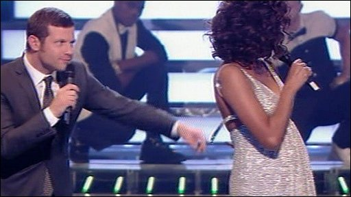 Dermot O'Leary and Whitney Houston