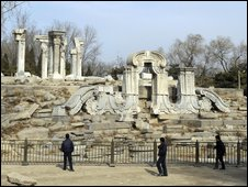 The ruins of the Guanshuifa Fountain, built in 1759, in Beijing's former Summer Palace - 24 February 2009