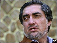 Abdullah Abdullah in Kabul on 30 September 2009
