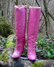 Pink stilletto boots