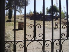 The site where archeologists will search for Lorca's remains