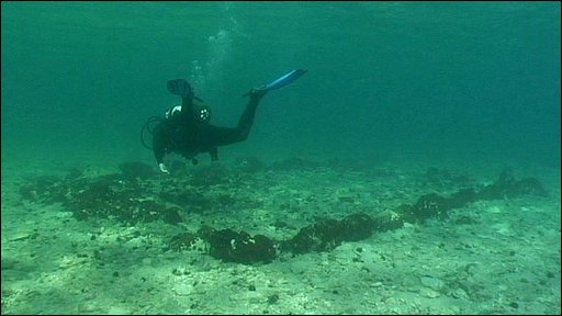 Diver at the site