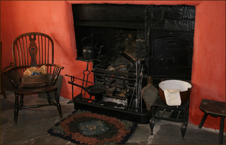 The hearth in Highgate Cottage