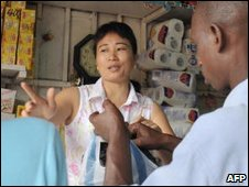 Chinese shopkeeper in Libreville, file image