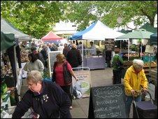 BBC - Oxford - Herb garden at farmers' market