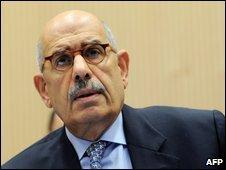 Mohammed El Baradei in Vienna