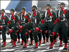IRGC troops parade in Tehran (2008)