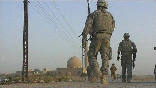 US troops in Kirkuk