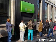 Queues outside Bristol Job Centre