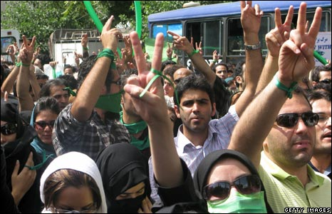 Iranian opposition supporters in Tehran