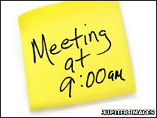 Meeting reminder (Jupiter Images)