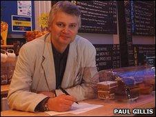 Bristol poet Alan Summers, image by Paul Gillis