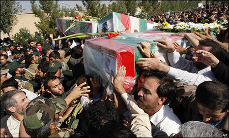 Funeral for Revolutionary Guards killed in Sudnay's attack