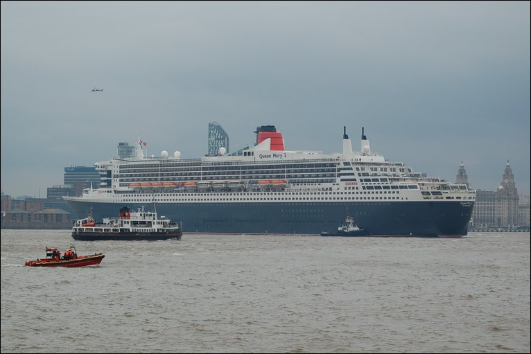 Queen Mary 2 arrives in Liverpool on 20th October 2009