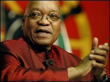 Jacob Zuma during the 10th annual Cosatu conference in Johannesburg