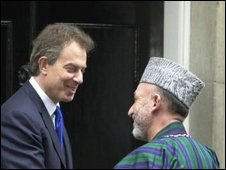 Tony Blair and Hamid Karzai
