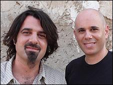 Ajami directors Skander Copti (l) and Yaron Shani