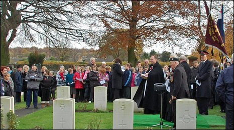 Remembrance service at Selby Cemetery