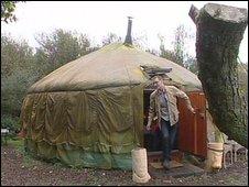 Will Renner's yurt