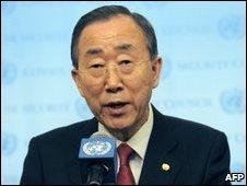 Ban Ki-moon at UN Headquarters October 20, 2009