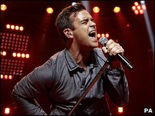 Robbie Williams at the BBC Electric Proms