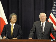 Japanese Defense Minister Toshimi Kitazawa and US Defence Secretary Robert Gates, Tokyo, 21 Oct 09