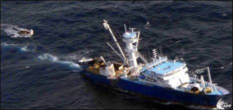 Spanish fishing boat was attacked off the Seychelles this month