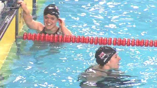 Ellie Simmonds and Natalie Jones