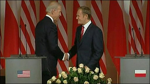 US US Vice President Joe Biden and Polish Prime Minister Donald Tusk