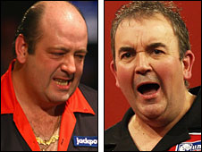 Ted Hankey (left) and Phil Taylor