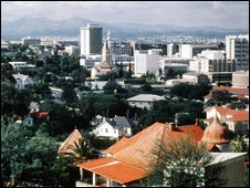 Windhoek, capital of Nambia.
