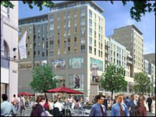 Artist impression of the development in the Hayes