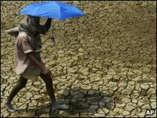 Parched land in the Indian state of Orissa
