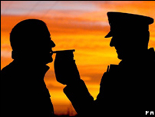 Police drink drive test