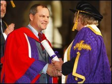 Jack Dee collects honorary degree
