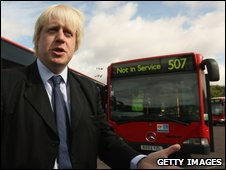 Boris Johnson and bus