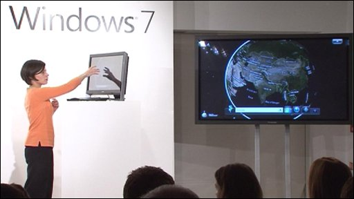 Microsoft's Leila Martine unveils the new operating system's key features hours before it goes on sale.