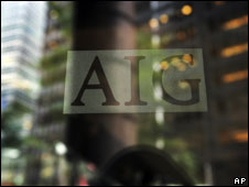 American International Group logo on a window in New York (file image)