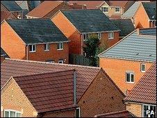 Housing estate in Derbyshire