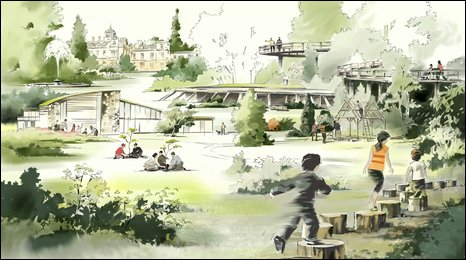 Graphics to illustarte the plans for the Westonbirt Project