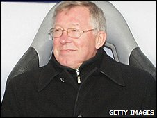 Sir Alex Ferguson cut a contented figure at the Luzhniki Stadium