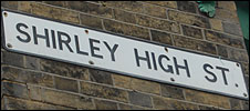 Shirley High St sign