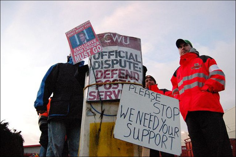 A picket line in Swindon