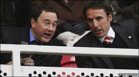 Steve Gibson (left) and Gareth Southgate