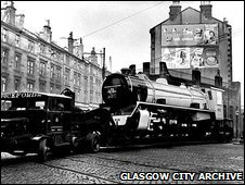 Sudan Railways 4-8-2 leaving Vulcan Street in Springburn