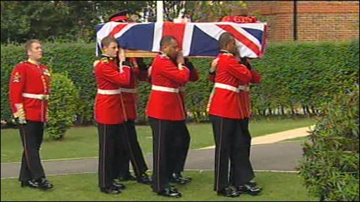 Funeral of Guardsman Jamie Janes