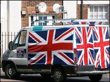 BNP campaign van in Sunderland