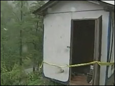 The trailer where Ms Williams was found in Charleston, Virginia (file image)
