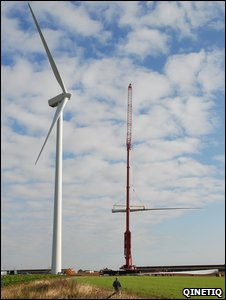 Wind turbine blade replacement (Qinetiq)